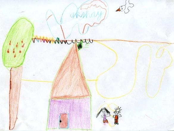 Tekening door Akshay (8 jaar)